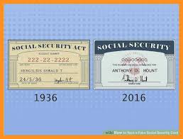 Template Social Security Card Free Resume Fake