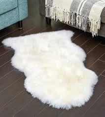white ivory sheepskin rug sheep skin large ikea