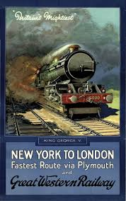 image is loading 1947 vintage train travel wall print poster decor