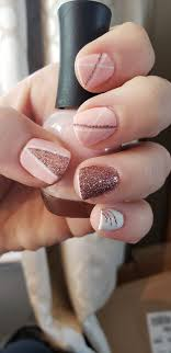 White Rose Nail Design Simple Nail Design Pink White Rose Gold Glitter Pink
