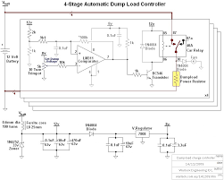 design and construction of a wind turbine dump load charge controller 4 stage automatic dumpload controller circuit diagram