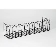 potter arch effect wrought iron wall mounted planter