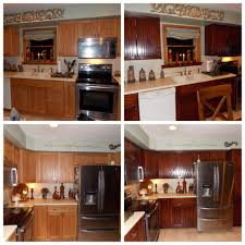 Stain Oak Kitchen Cabinets Honey Oak Kitchen Restained Using General Finishes Brown Mahogany