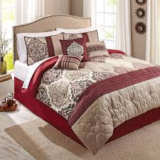 queen size bed sets better homes and gardens 7 piece bedding comforter set red ikat