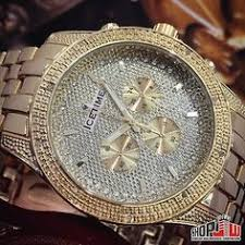 real diamond watch iced out mens solid steel yellow gold joe king ice time 0 10ctw real genuine diamond mens watch iced out storm gold tone bling
