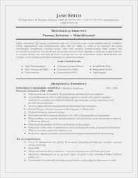 Pharmacy Tech Resume Best Of Pharmacist Resume Objective Best