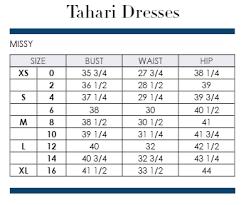 T Tahari Size Chart Tahari Dress Size Chart Related Keywords Suggestions