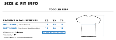 Toddler Girl Size Chart Teepublic Uk
