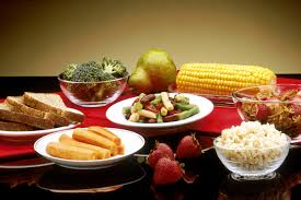 restaurant, feed, dish, meal, produce, corn, breakfast, pear,  eat, lunch, cuisine, bread, rice, broccoli, buffet, power, dishes,  vegetables, wallpaper, cereals, towels, strawberries, healthy food,  vitamins, supper, brunch, plates, carrots,
