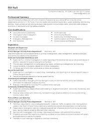 Resume For Law Enforcement Resume For Law Enforcement Resume