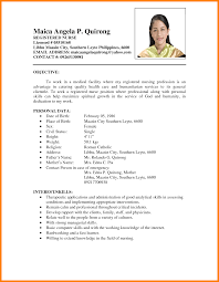 Resume Sample Form Resume Samples Format Sample Of Resume Form Yefloiland 6