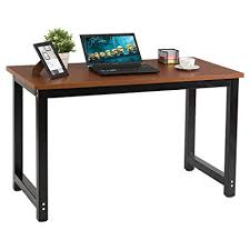 wood office tables. Contemporary Tables CHEFJOY Computer Desk PC Laptop Table Wood Workstation Study Home Office  Furniture Brown And Black For Tables I