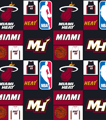 miami heat cotton fabric 44 u0022 patch