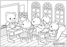 Coloriage Du Professeur Ours Qui Fait Classe Aux Enfants De Sylvania