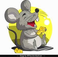 mouse icon funny cartoon character sketch free vector 1 24mb