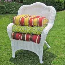 Blazing Needles 19 x 19 in. Outdoor Wicker Chair Cushion   Hayneedle