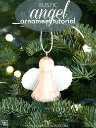 spun glass angel ornament ornaments wooden small