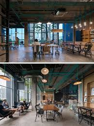 office cafeteria design enchanting model paint. Office Cafeteria Design Enchanting Model Paint Turquoise Electrical Conduit Is A Feature Running Through