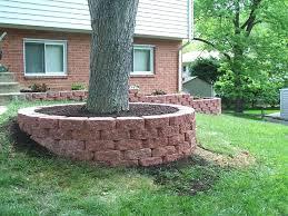 retaining walls around trees retaining wall around tree hill round designs building
