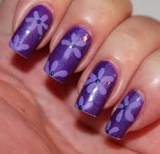 Fantastic Purple Colored Nail Art | Trendy Mods.Com