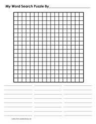 Blank Word Search Grids Learn With Puzzles
