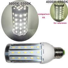 Light Bulb 5000k Vs 6500k Amazon Com E27 60 Led 5730 Smd Corn Light Lamp Bulb Warm