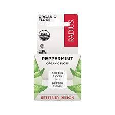 RADIUS USDA Organic Peppermint Dental Floss, 55 ... - Amazon.com