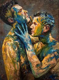 artist top art hand painted oil painting male man men oil painting art