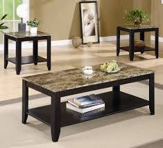 piece occasional table set with shelf and marble look top products sets coffee end tables home