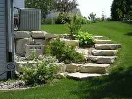 river rocks entry garden. What Kind Of Landscaping For A Hill   - Rochester MN RockSolidLandscape.com \u2014 . River Rocks Entry Garden C