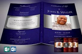 Dignity Funeral Program Template Bundle Publisher Word