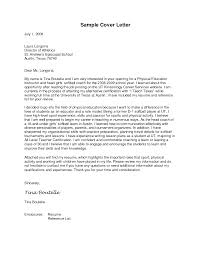 Cover Letter For Kinesiology Job Milviamaglione Com