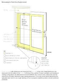 sliding door dimension g glass door dimensions standard width r widths patio s