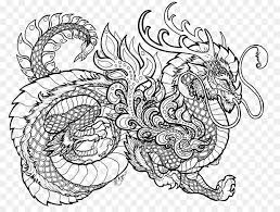 Dragons Coloring Book Colouring Pages Chinese Dragon Dragon Png