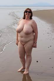 Fat nude women on beach