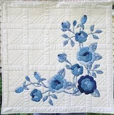 9 Inspiring Rose Quilt Designs & blue rose wall hanging Adamdwight.com