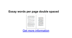 essay words per page double spaced google docs