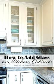 kitchen cabinet door with glass how to add glass to cabinet doors from confessions of a