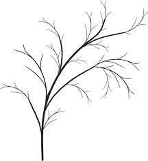 葉っぱや草木のイラスト画像フリー素材白黒no830白黒木枝