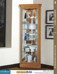 howard miller display curio cabinet oak corner curio cabinetjpg