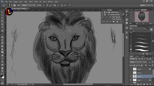 how to draw a lion head step by step easy digital painting tutorial part 1