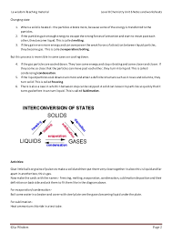 Level 8 chemistry States of Matter _notes and worksheets