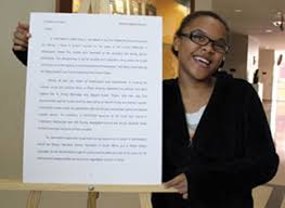 winners of aarlcc s black history month essay contest the  christina francois