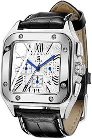 GuTe Men's Quartz Watch, Luxury Chronograph ... - Amazon.com