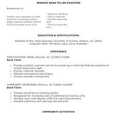 Cover Letter For Bank Teller Position With No Experience Best Ideas