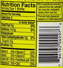 Vitamin Water Nutrition Chart Vitaminwater Zero Squeezed Electrolyte Enhanced Water W Vitamins Lemonade Drink 20 Fl Oz