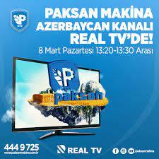 Paksan Makina - Paksan Makina 8 Mart Pazartesi Günü Azerbaycan Kanalı Real  TV'de. Saat 13.20'de başlayacak olan bu programı sakın kaçırma. Alarmını  kur televizyon karşısında yerini al! 📼 Ürünlerimiz hakkında #detaylı bilgi