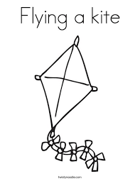 Small Picture Flying a kite Coloring Page Twisty Noodle