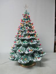 Ceramic Tabletop Christmas Tree With Lights Extraordinary Illuminated Tabletop Ceramic Christmas Trees Retro Ceramic Christmas