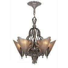 Reproduction Art Deco Light Fixtures Art Deco Style Chandeliers Antique Reproduction Slip Shade 5